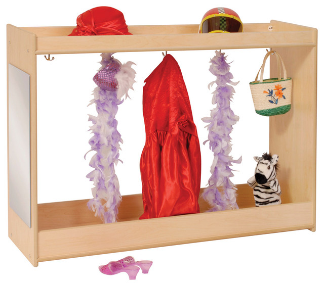 steffywood kids wooden dress up carousel play costume organizer storage cabinet contemporary. Black Bedroom Furniture Sets. Home Design Ideas
