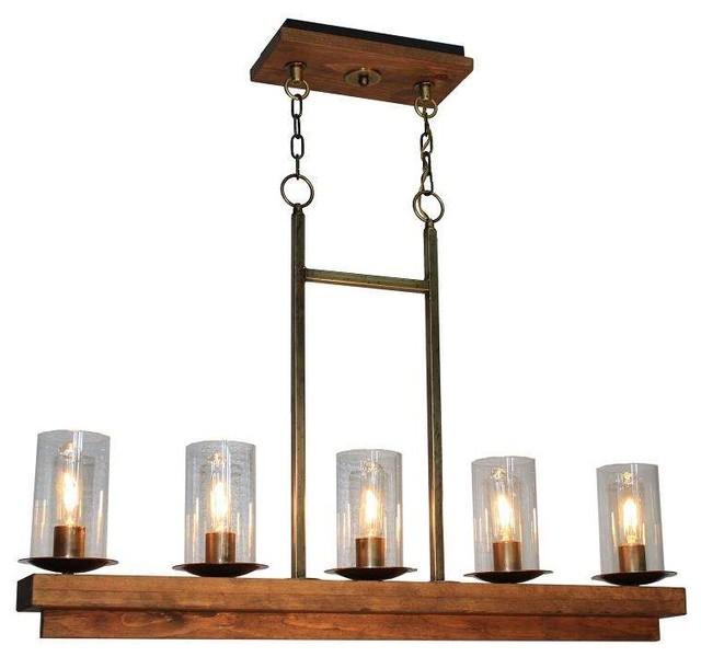 artcraft lighting ac10145bb legno rustico island light