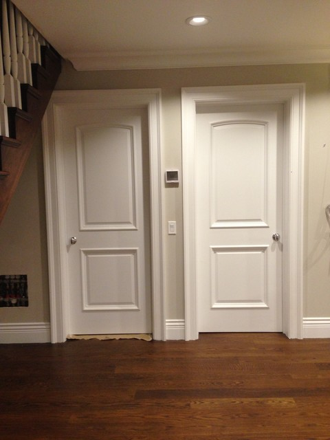 30 X 80 2 Panel Arched Top White Primed Door With Raised Moulding 1 3 4 Modern Interior