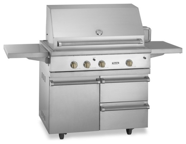 Viking ultra premium 500 series gas grill cart with for Viking professional outdoor grill