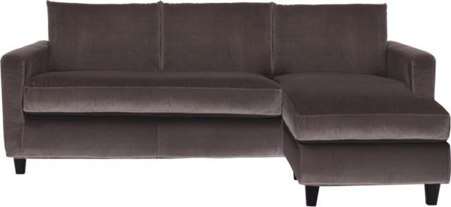 chester canap d 39 angle r versible en velours. Black Bedroom Furniture Sets. Home Design Ideas