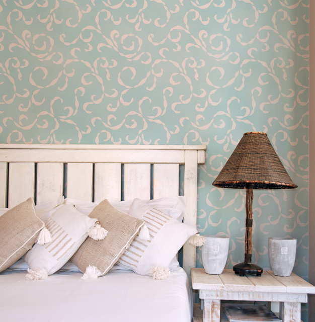 gallery for bedroom wall stencil designs