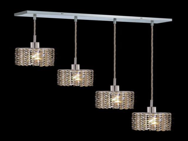 Elegant Lighting 1284D O E GT RC Mini 4 Light Pendants In