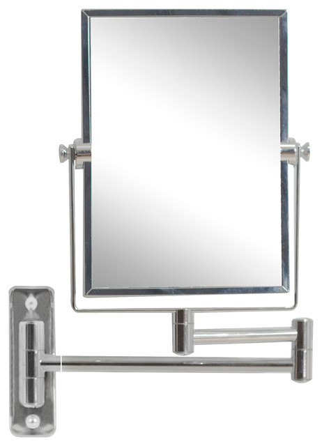 Rectangle Brass Mirror Wall Mount Magnifying Mirror Aluminum 5 Modern Bathroom Mirrors