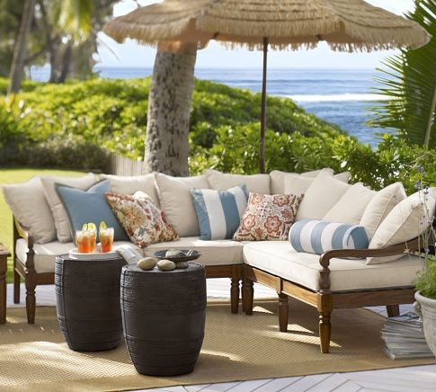 Faraday Sectional Set Modern Outdoor Lounge Sets By