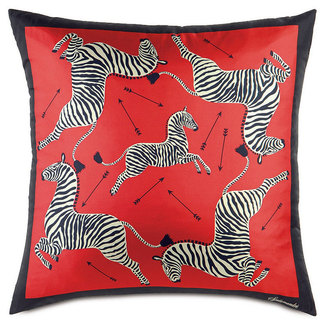 Scalamandre Zebra Silk Scarf Large Decorative Pillow - Traditional - Decorative Pillows - by ...