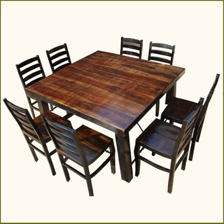 kansas city large family counter height 9pc dining set traditional