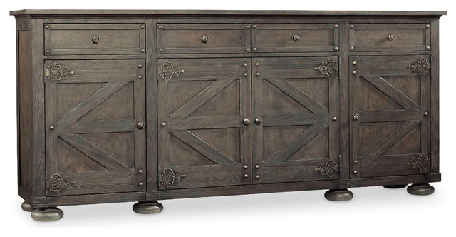 Vintage Style West Storage Credenza Charcoal
