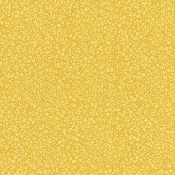 Pip Mustard Mini Floral Toss Wallpaper Eclectic