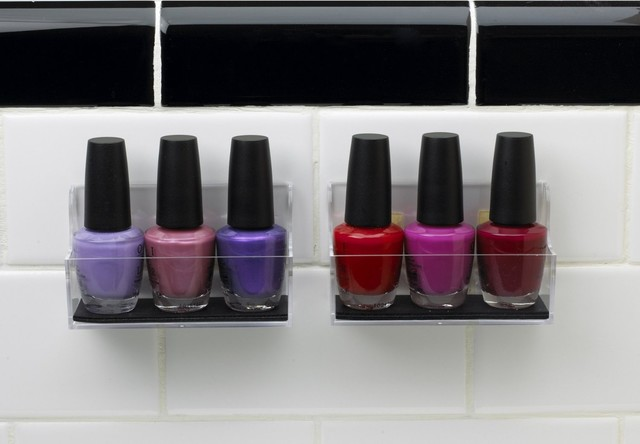 StickOnPods Nail Polish Organizers, Set of 2 - Contemporary - Bathroom Cabinets And Shelves - by ...