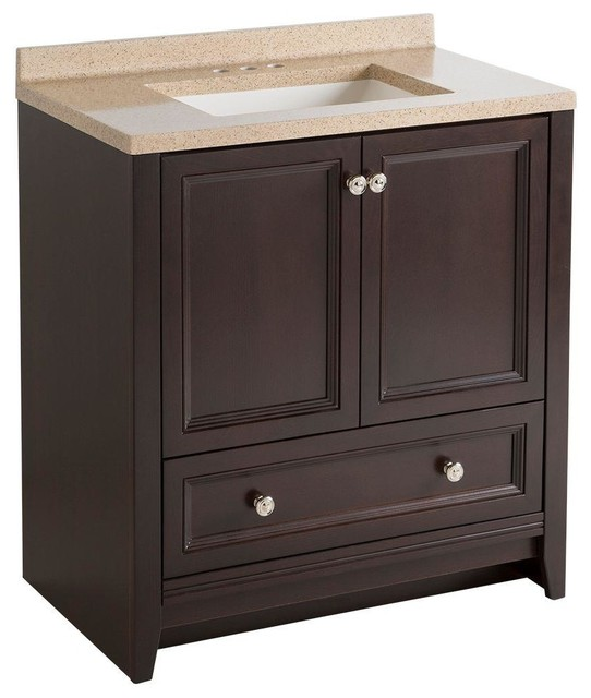 glacier bay bathroom delridge 30 in w modular vanity in