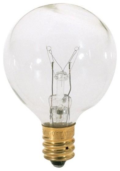 Satco 25w G12 1 2 Round Globe Incandescent Bulb E12 Base Modern Light Bulbs By Lbc Lighting