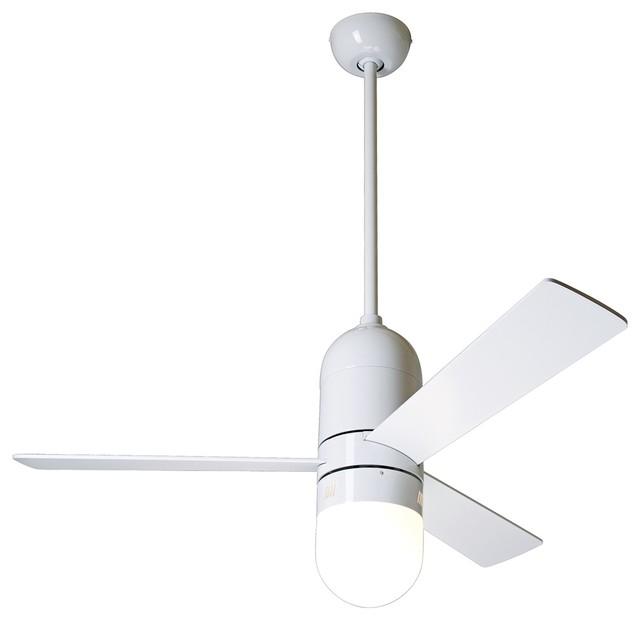 42 modern fan gloss white cirrus with light ceiling fan Modern white ceiling fan