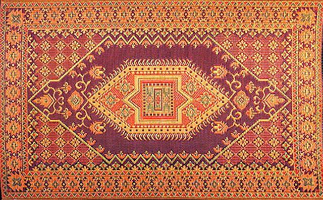 Oriental Turkish Rust Mediterranean Outdoor Rugs by