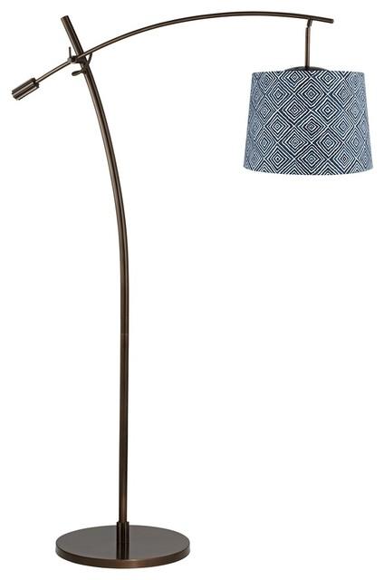 contemporary tara geometric squares shade balance arm arc. Black Bedroom Furniture Sets. Home Design Ideas