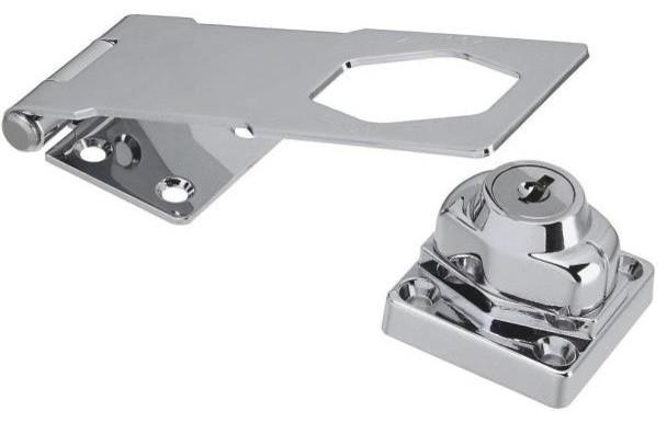 Keyed Hasp Lock transitional-cabinet-and-drawer-hardware