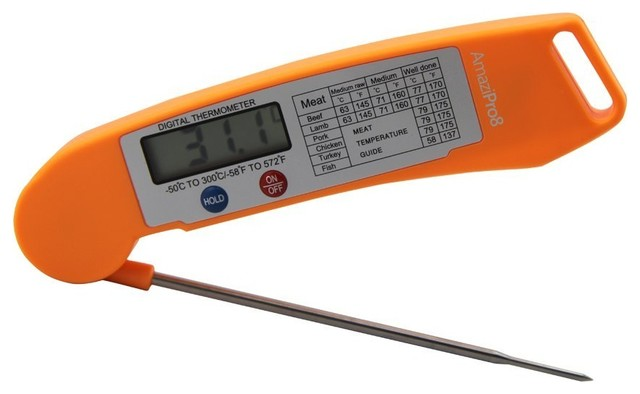 Super fast instant read digital meat thermometer moderne - Mesure cuisine sans balance ...