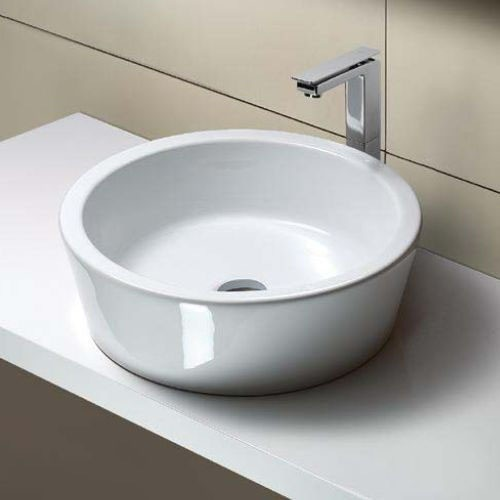 Round White Ceramic Vessel Sink by GSI - Contemporary - Bathroom Sinks ...