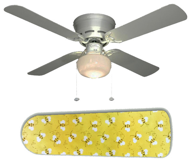 Yellow Ceiling Fan : Sweet yellow bumblebees bees quot ceiling fan and lamp