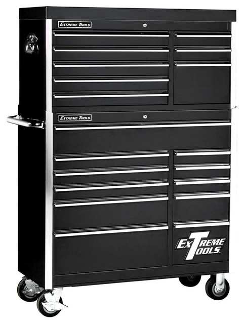 Extreme Tools 11 Drawer Steel Tool Cabinet & Chest - Black Finish - Contemporary - Garage And ...