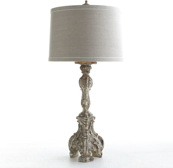Antiqued Baroque Lamp Traditional Table Lamps Dallas By Wisteria