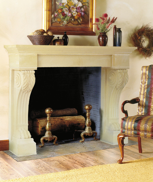 Wellington Cast Stone Fireplace Mantel Traditional