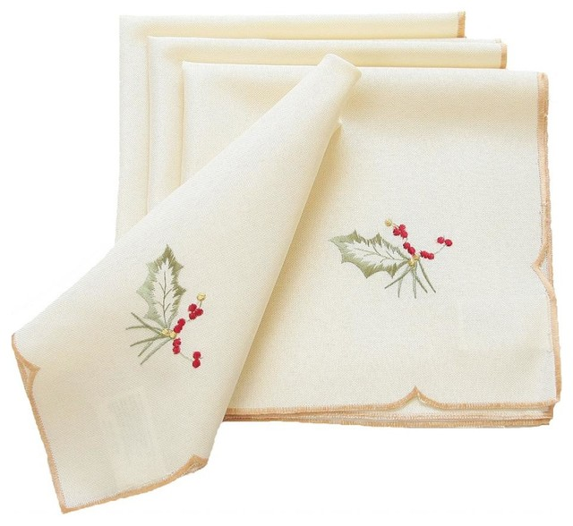 Classic Pine Cone Embroidered Collection Napkin 18 By 18