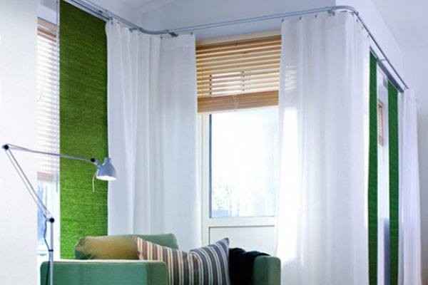 Corner Window Fashions Bendable Curtain Rod Modern Curtain Rods Indianapolis By Abda