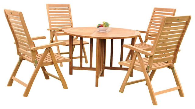 Piece dining set 48 quot round butterfly table and 4 ashley arm chairs