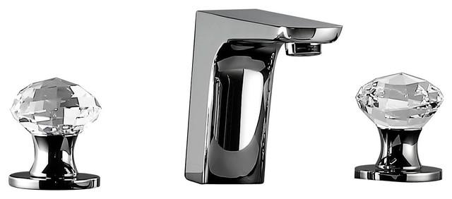 Bathroom Faucet W/ Swarovski Crystal, Polished Chrome