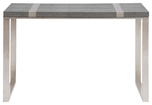 Stainless Steel Vinyl Console Table Contemporary