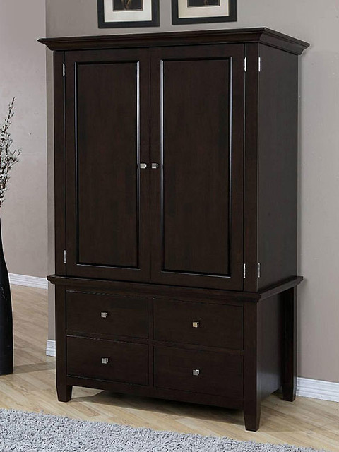 Aristo Four-drawer Armoire - Contemporary - Armoires And ...