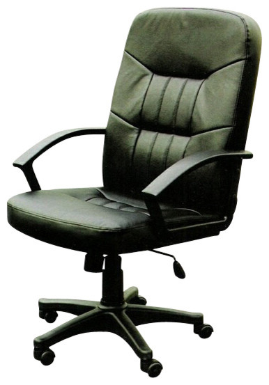 Simple High Back Executive Office Chair With Pneumatic Lift And Casters Con