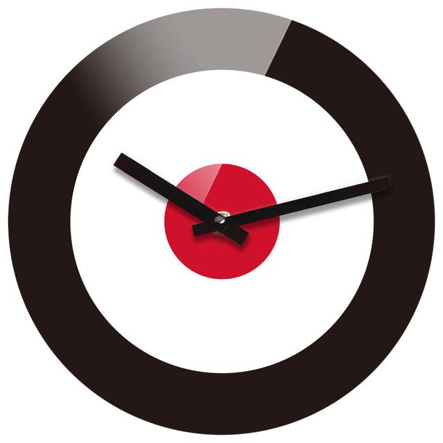 reflex non ticking silent acrylic wall clock large target