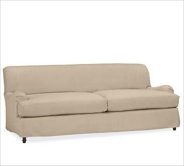 Carlisle Slipcovered Sofa Down Blend Wrap Cushions Twill