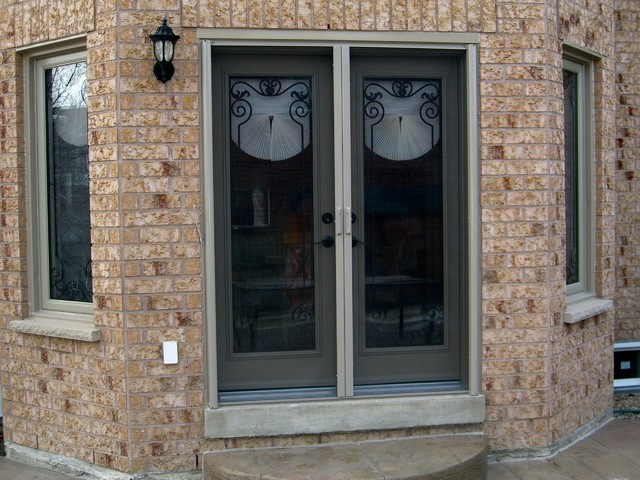 French Door Retractable Screen Screen Doors Toronto By Invisible Screens Canada