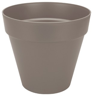 poft cache pot d70cm taupe en plastique elho contemporain pot et jardini re d 39 ext rieur. Black Bedroom Furniture Sets. Home Design Ideas