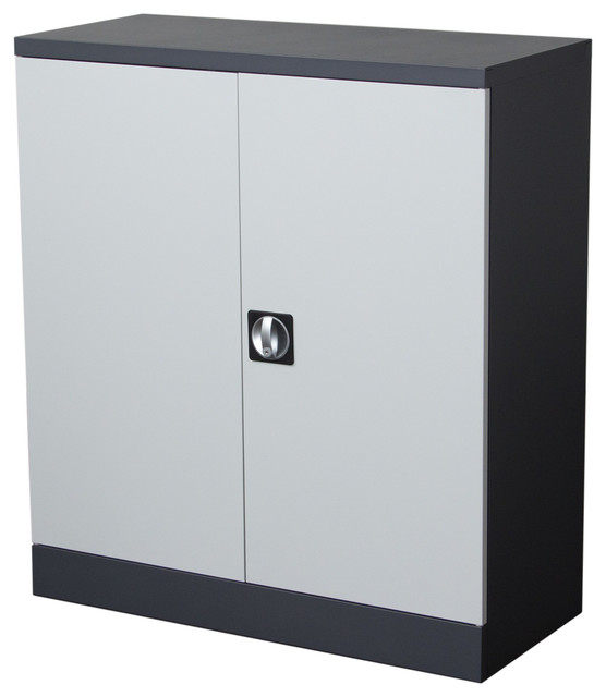 2-Door Low Profile Storage Locker Cabinet With Key Lock Entry - Industrial - Storage Cabinets ...