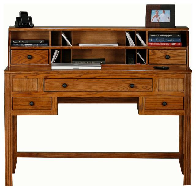Eagle Furniture Oak Ridge Writing Desk Hutch Traditional