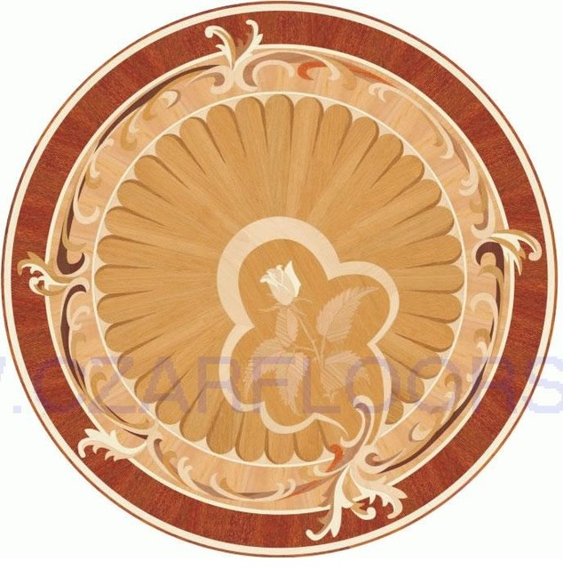 Wood Inlays Collection Floor Medallions Inlays