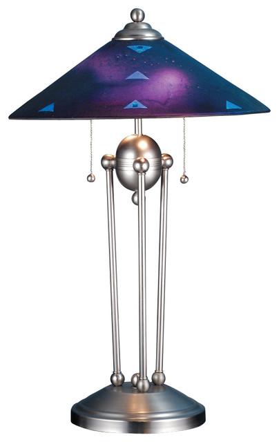 Meyda Lighting 82485 25 H Deco Ball Plum Crazy Fused Glass