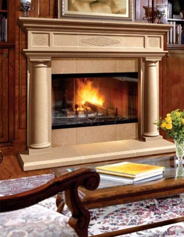 Cast Stone Fireplaces Mediterranean Kansas City By Continental Cast Stone Manufacturing Inc