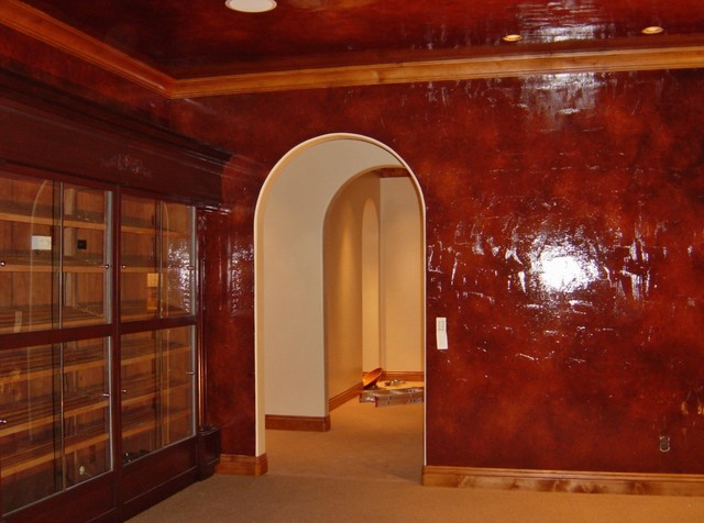 Faux Finishes For Walls : Wall glazing faux finishes traditional orange county