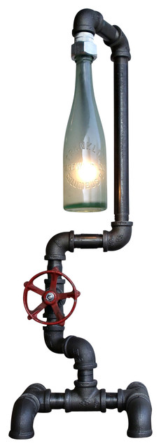 Fuse Lamp, Aqua Bottle - Industrial - Table Lamps - by Peared Creation
