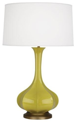 robert abbey pike table lamp in citron traditional table lamps