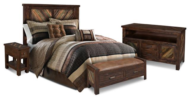 Sunset Trading Riviera 4 Piece Bedroom Set Bedroom