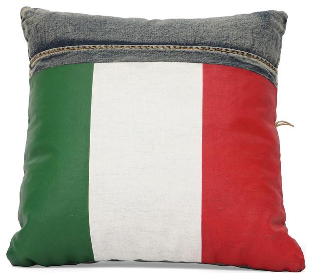 Decorative Denim Pillows : Cowboy Cushion Blue Denim - Decorative Pillows - by Inmod