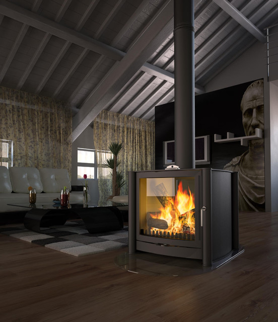 Firebelly Wood Burning Stove Contemporary Wood Burning Stoves Other By Fireplace Products