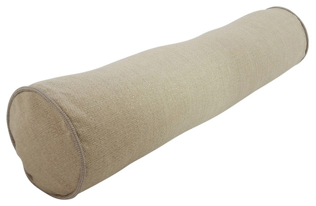 Modern Bolster Pillows : 8X36 Decorative Bolster in Kismet - Modern - Bed Pillows - by Thief Riven Linen