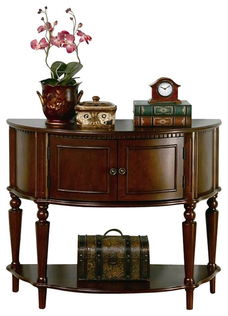 Foyer Storage Console Table : Coaster storage entryway console hall table brown
